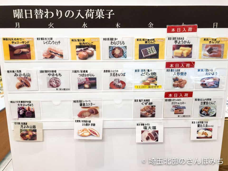 大宮そごう卯花墻の日替わり入荷菓子