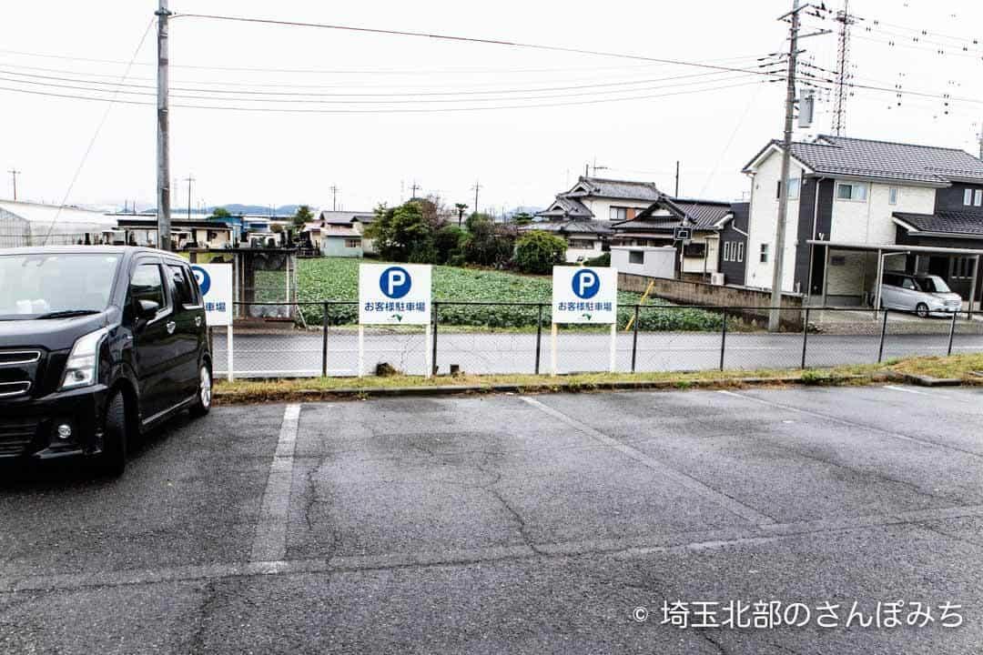 上里SA(下り)一般道の駐車場