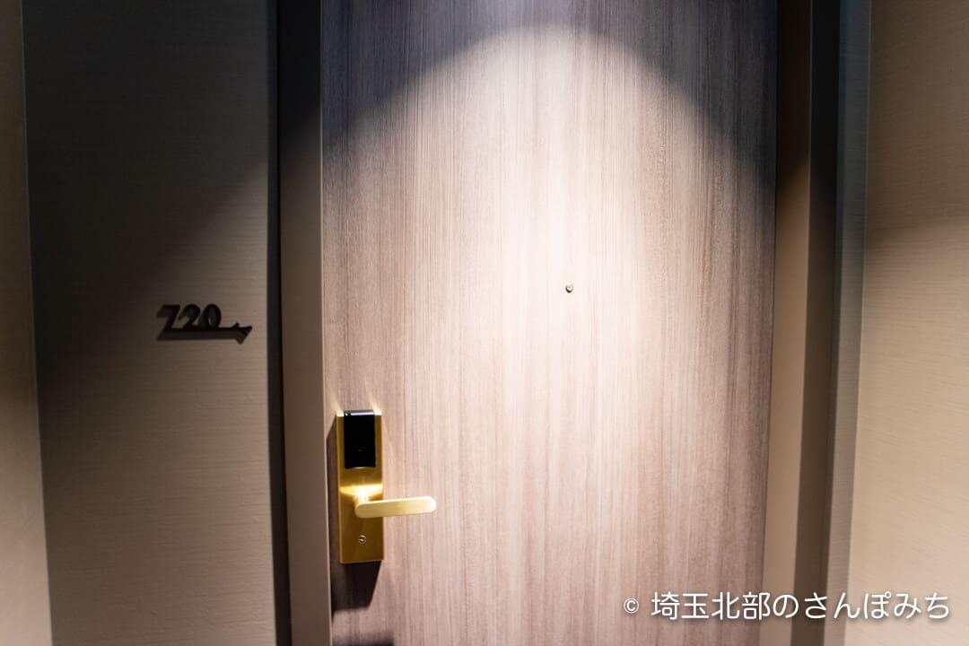 ホテルメトロポリタンさいたま新都心の客室ドア