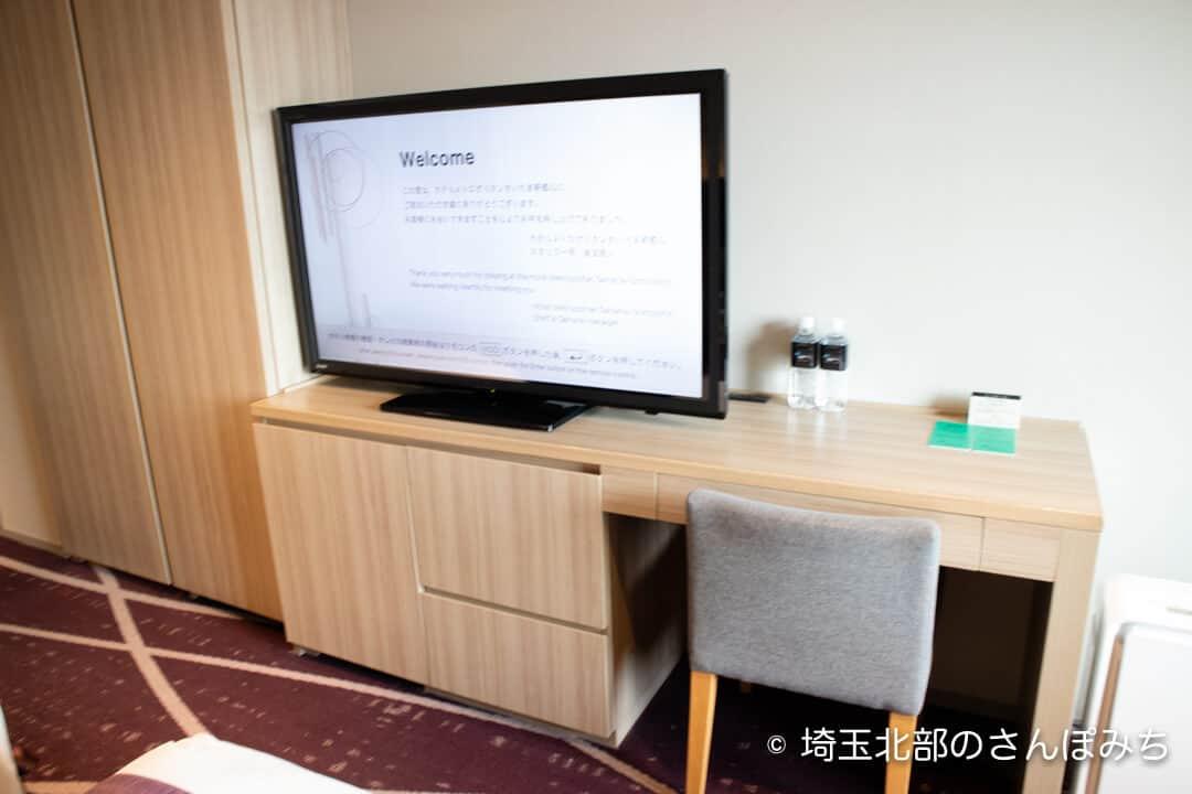 ホテルメトロポリタンさいたま新都心客室のテレビ