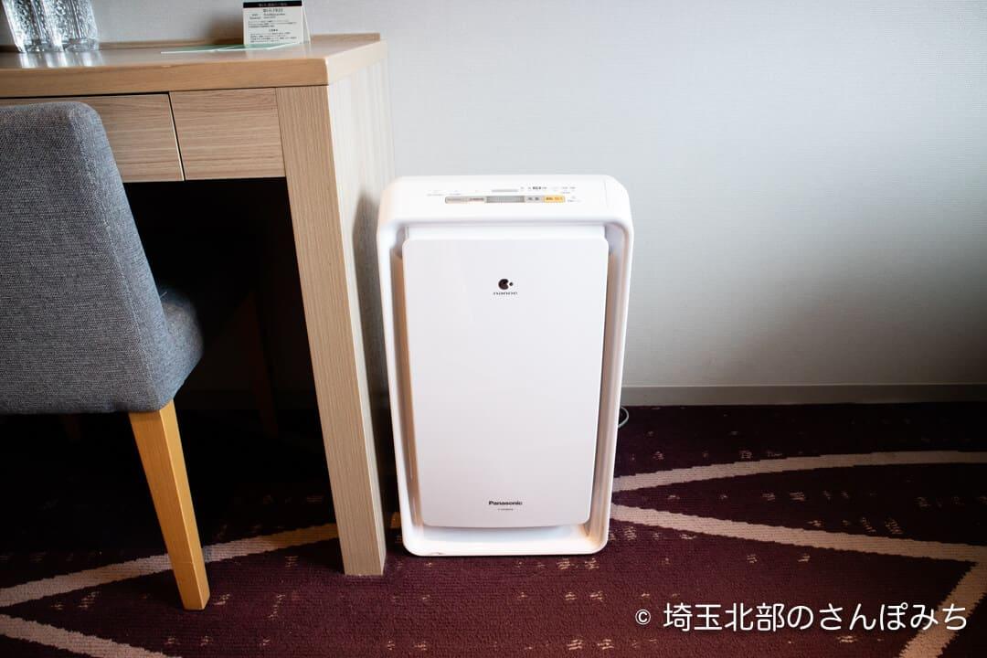 ホテルメトロポリタンさいたま新都心客室の加湿空気清浄機