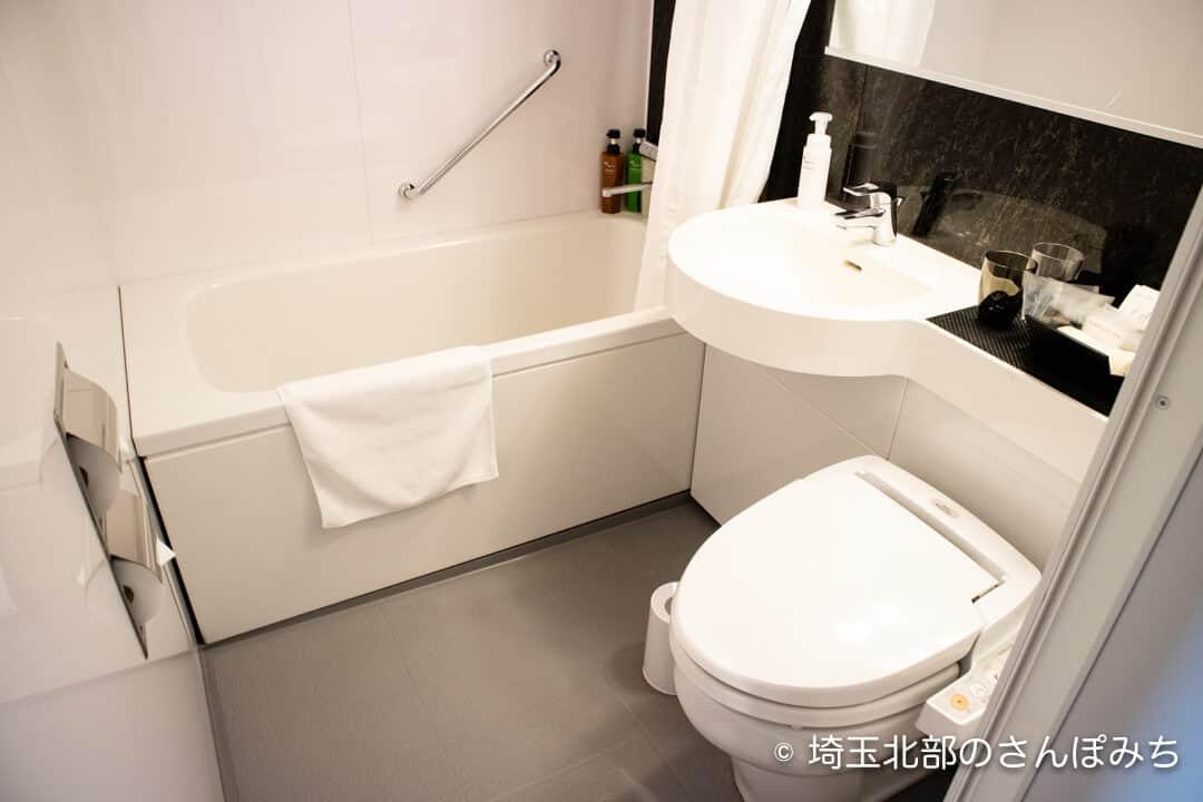 ホテルメトロポリタンさいたま新都心客室のバスルーム