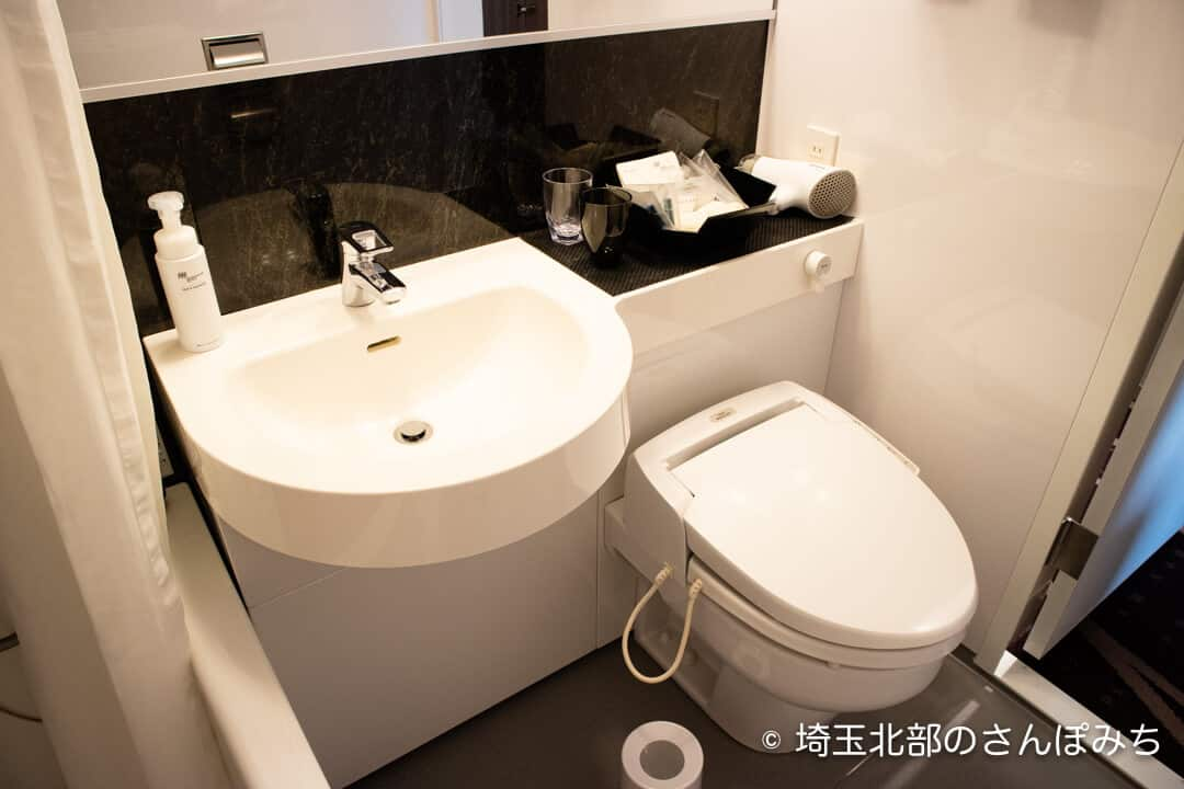 ホテルメトロポリタンさいたま新都心客室トイレ・洗面所