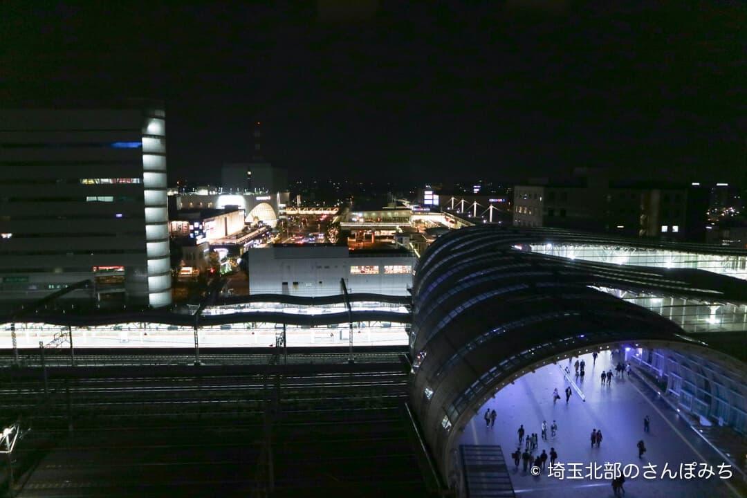 ホテルメトロポリタンさいたま新都心客室からの眺め(夜)