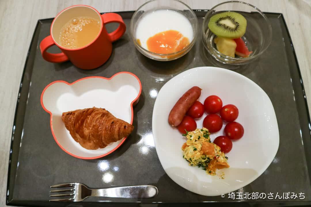 ホテルメトロポリタンさいたま新都心の朝食ブッフェ(子供用)