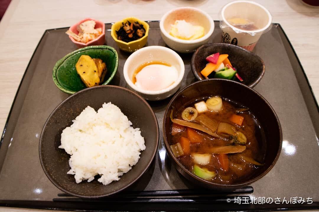 ホテルメトロポリタンさいたま新都心の朝食ブッフェ(和食)