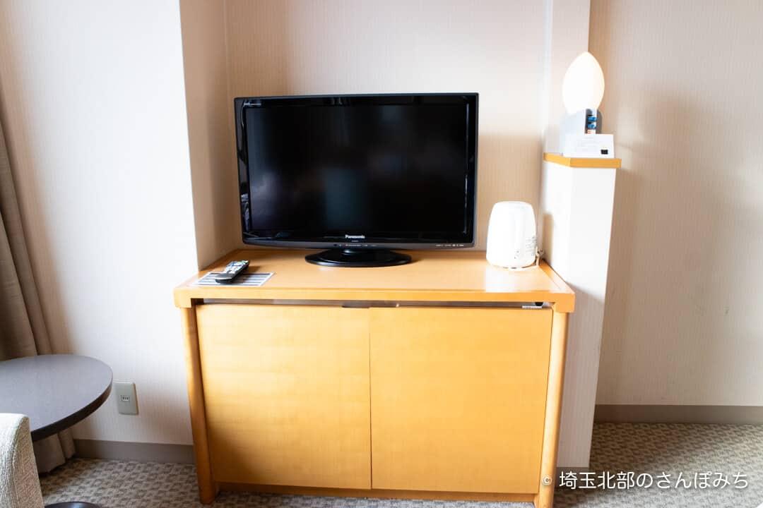 ロイヤルパインズホテル浦和・客室のテレビ