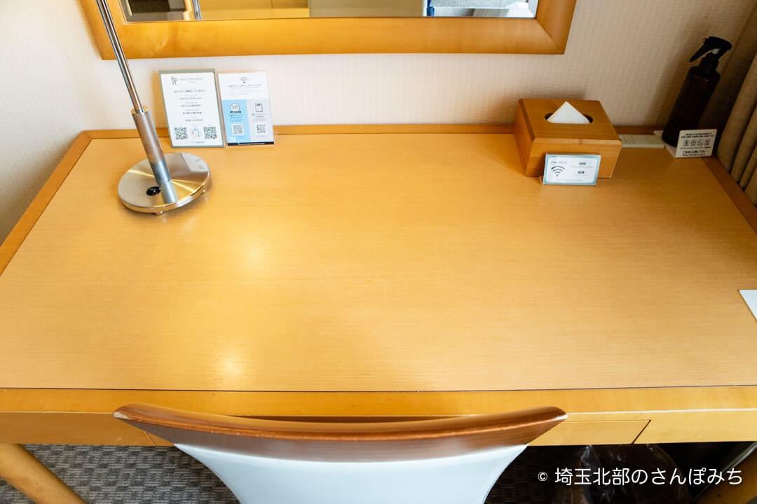 ロイヤルパインズホテル浦和・客室のデスク