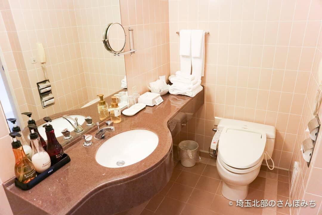 ロイヤルパインズホテル浦和・客室の洗面所トイレ