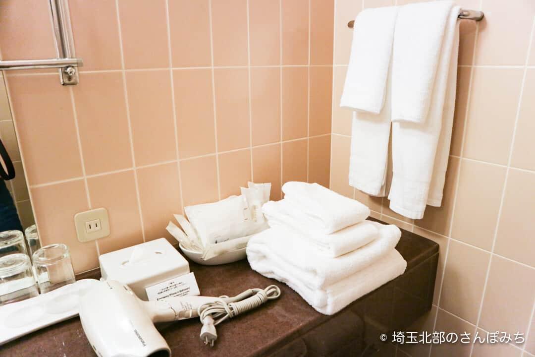 ロイヤルパインズホテル浦和・客室のタオル