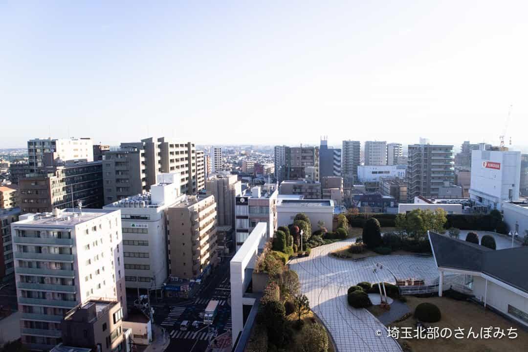 ロイヤルパインズホテル浦和からの眺め