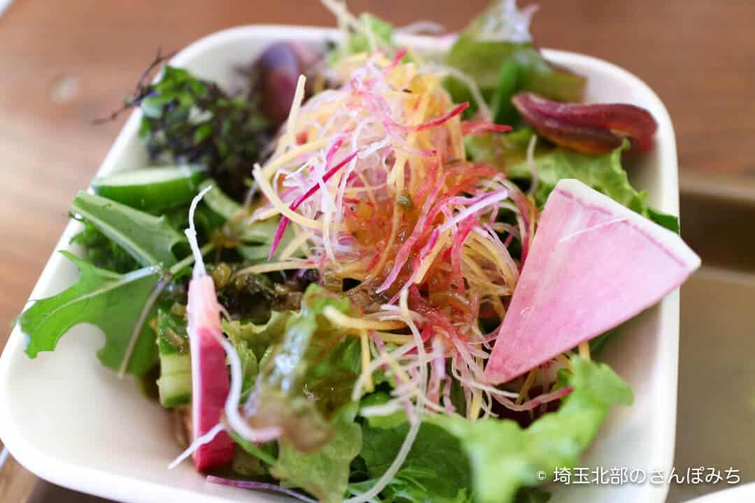 本庄駅カフェ・テラスバのランチのサラダ