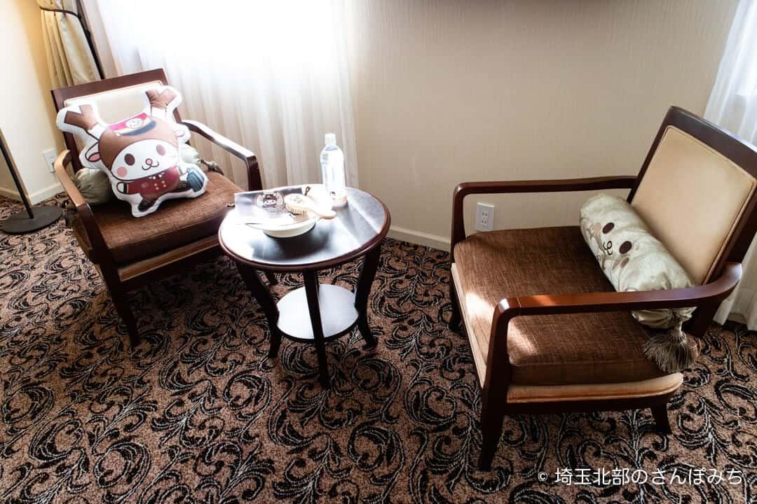 埼玉グランドホテル深谷グランドふっかちゃんルームのクッション