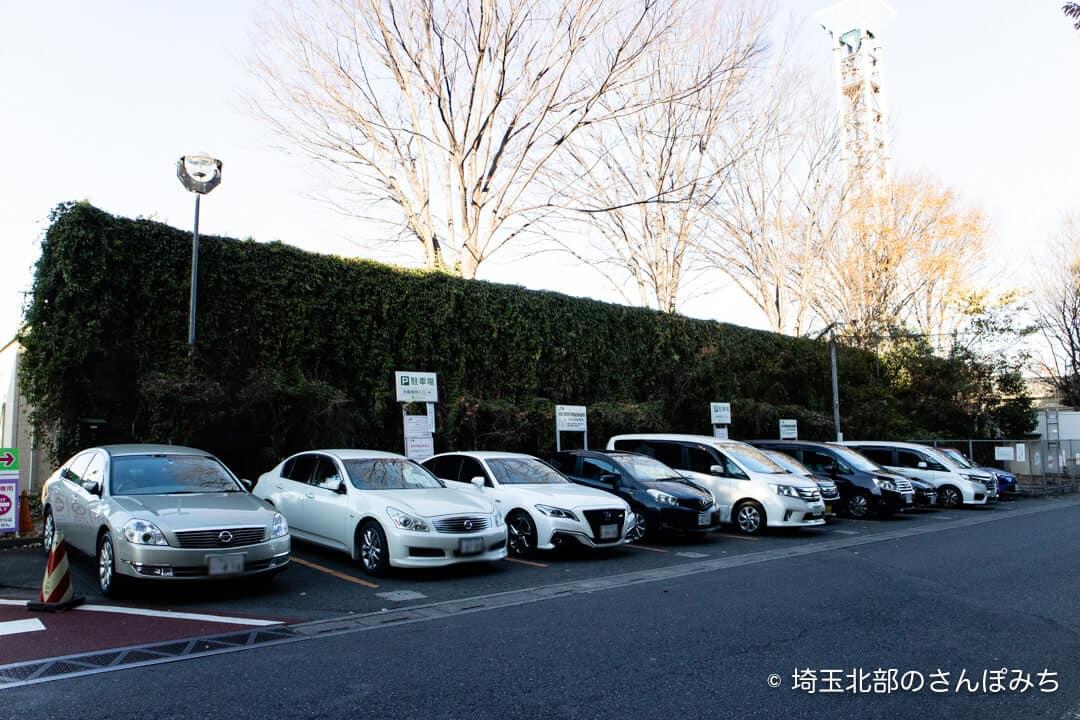 三芳PA(上り)一般道の駐車場