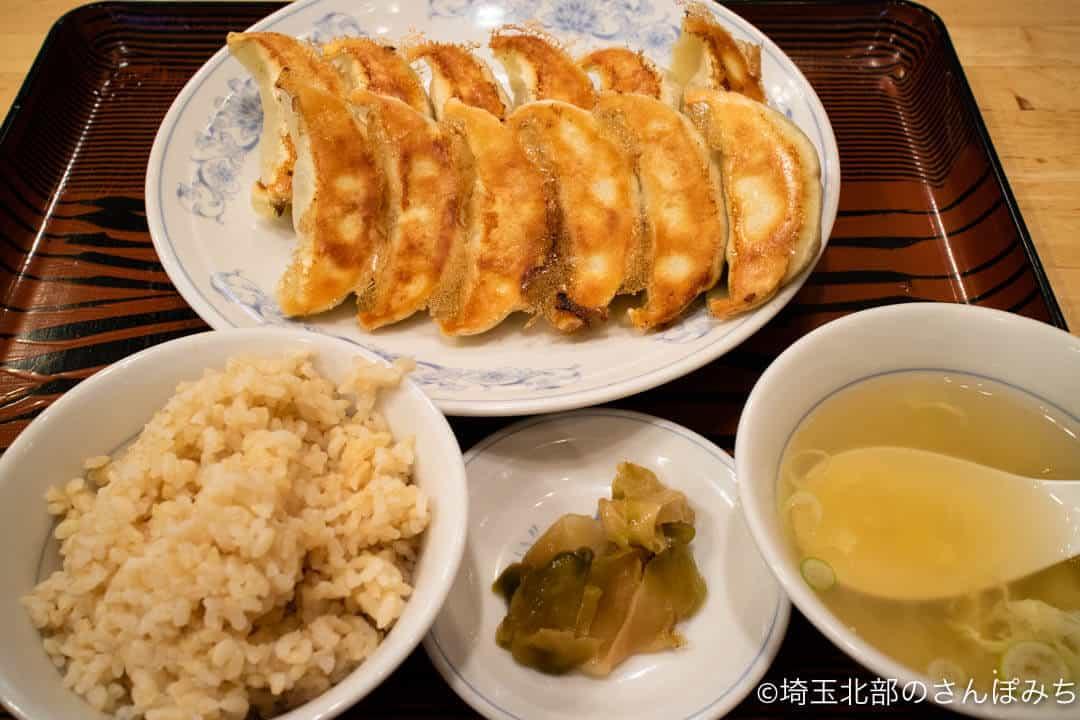 ぎょうざの満州ダブル餃子定食
