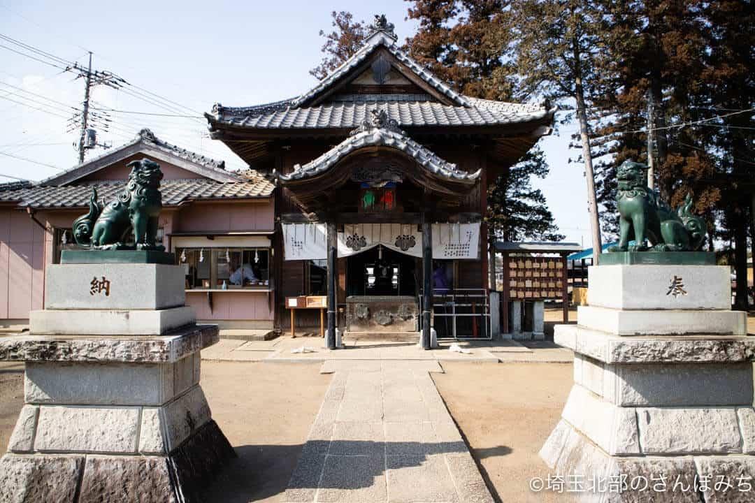 嵐山町・鬼鎮神社の狛犬