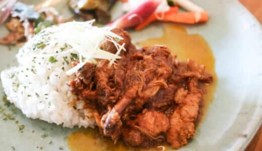 小川町のカレー・強い女無水チキンカレーの肉
