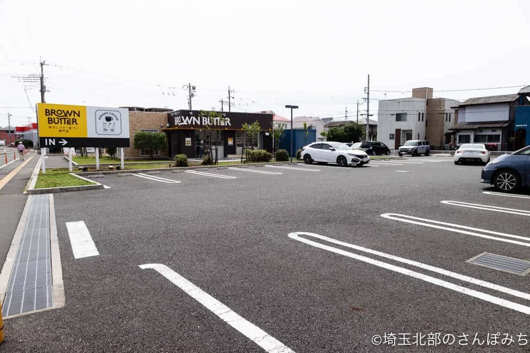 鶴ヶ島・ヒナノ珈琲ブラウンバターの駐車場