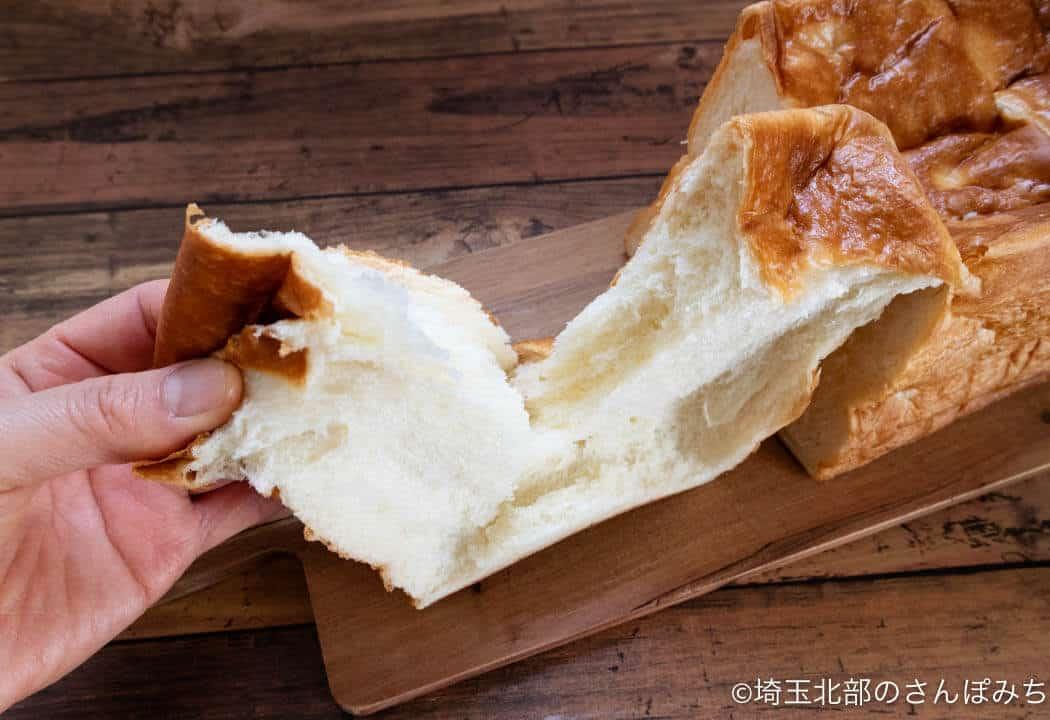 鶴ヶ島・ブラウンバター焦がしバター食パンふわふわ感
