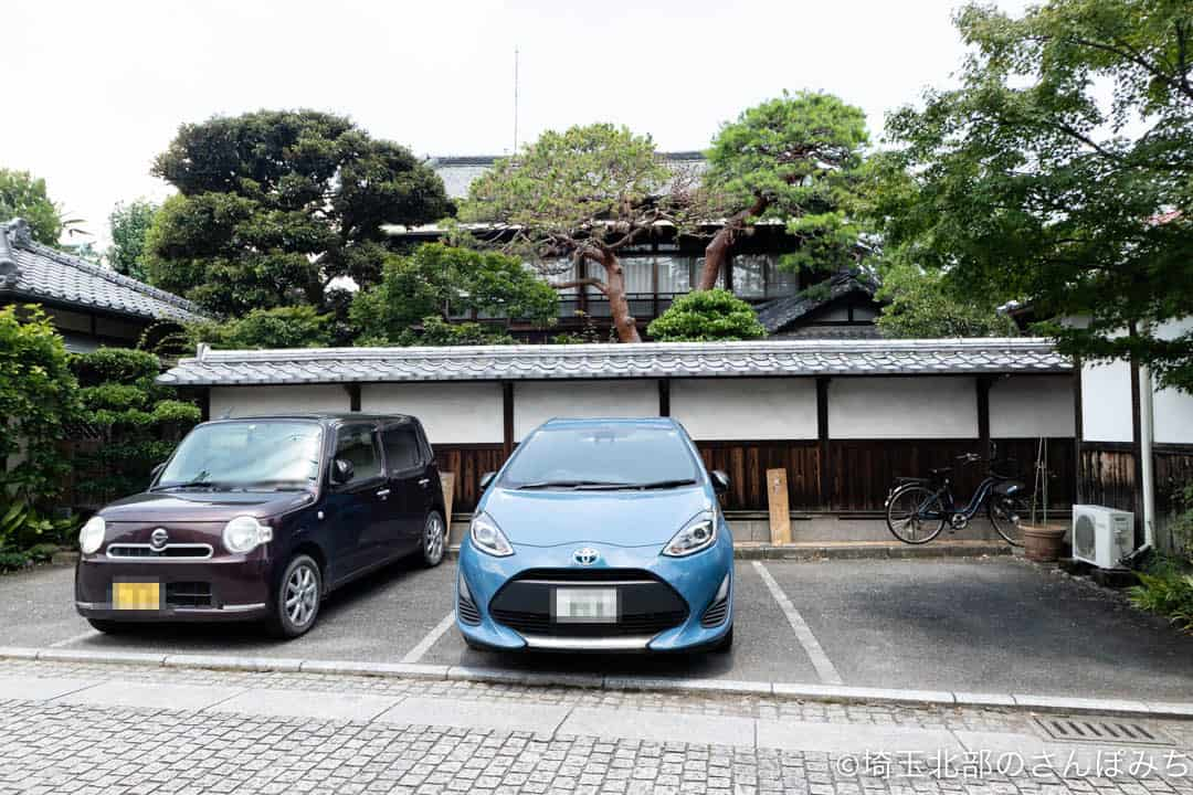 足利のカフェ・八蔵の駐車場