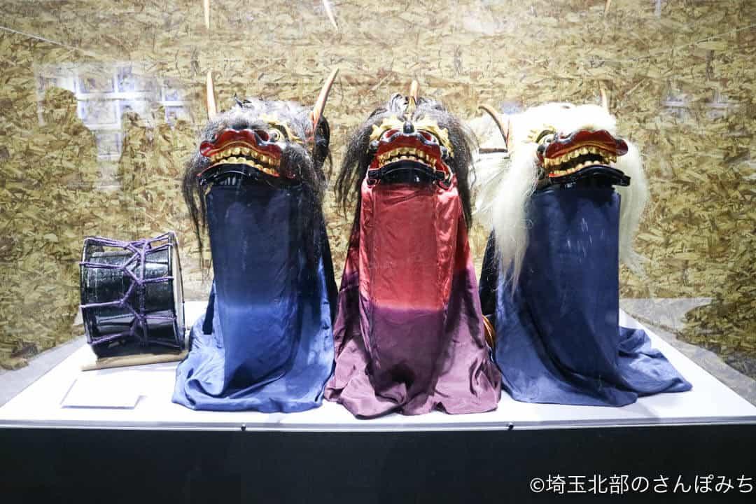 渋沢栄一青天を衝け深谷大河ドラマ館の獅子舞展示