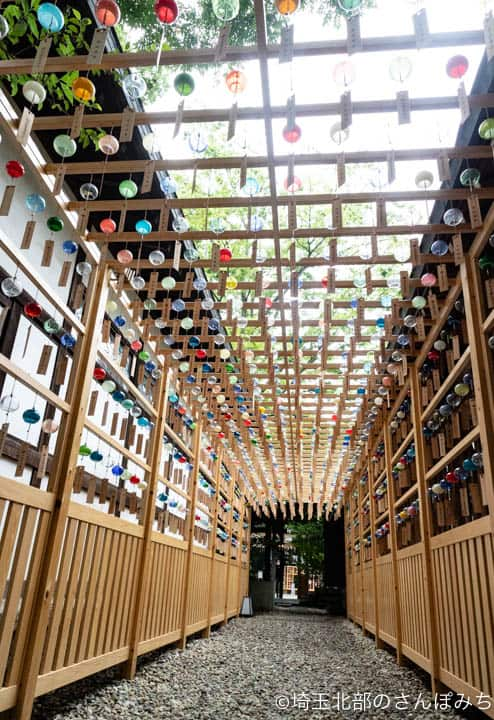 川越氷川神社の風鈴回路