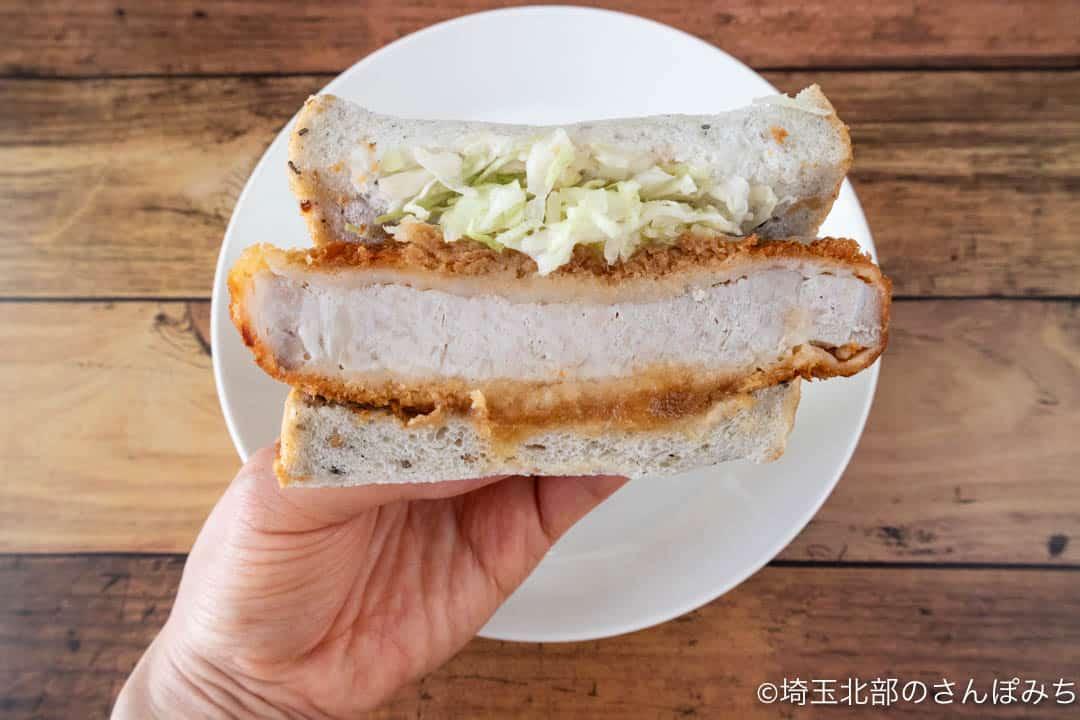 川越・サンドイッチパーラー楽楽「厚切り三元豚のおろしぽん酢カツ」