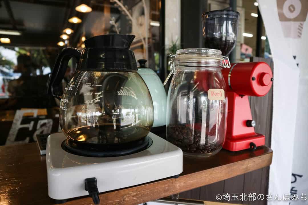 道の駅おかべ・あさみ珈琲店のコーヒーメーカー