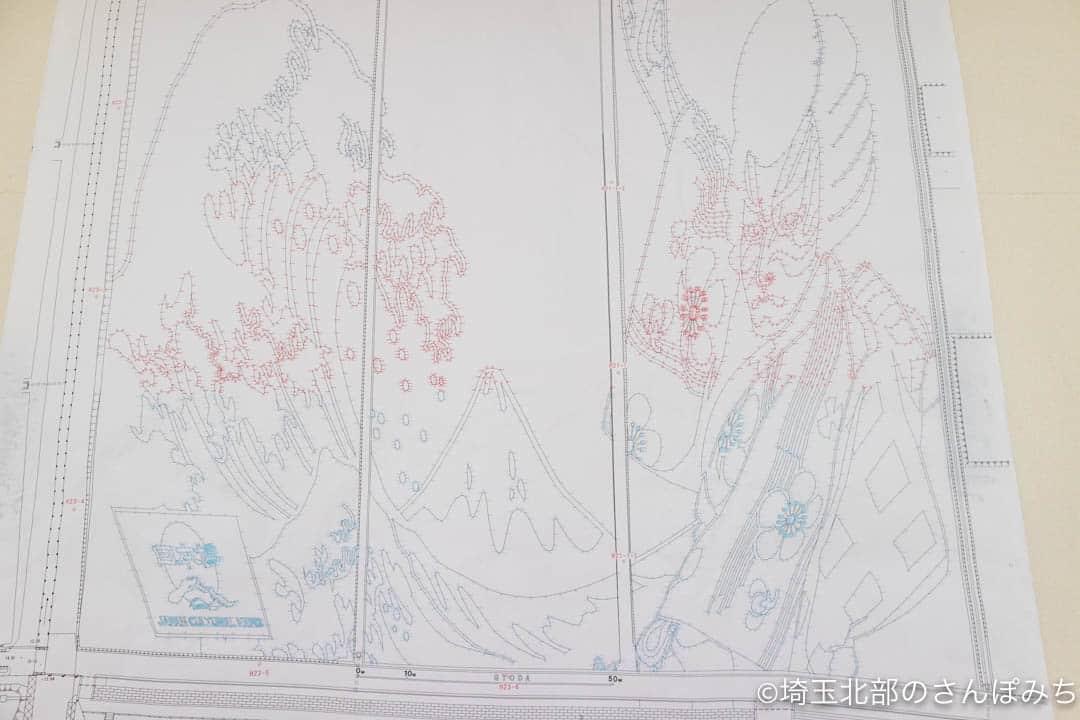 行田市展望タワー・田んぼアート(2021年)設計図