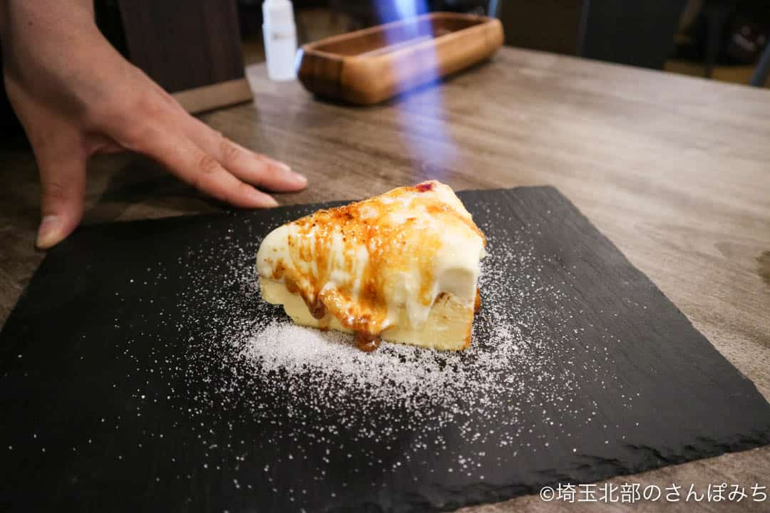 熊谷・チーズカフェcircolo(チルコロ)炙りバスクチーズケーキ